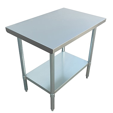 Excalibur – Table commerciale en acier inoxydable, 36 x 24 x 34 po
