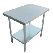 "Excalibur Commercial Stainless Steel Table, 36"" x 24"" x 34"""