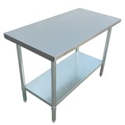 "Excalibur Commercial Stainless Steel Table, 48"" x 24"" x 34"""