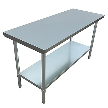 Excalibur – Table commerciale en acier inoxydable, 60 x 24 x 34 po