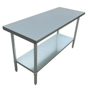 "Excalibur Commercial Stainless Steel Table, 60"" x 24"" x 34"""