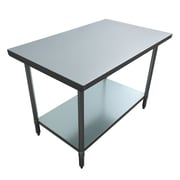 "Excalibur Commercial Stainless Steel Table, 48"" x 30"" x 34"""