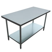 "Excalibur Commercial Stainless Steel Table, 60"" x 30"" x 34""  (ET184F3060G)"
