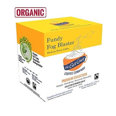 East Coast Coffee – Recharges compatibles Fundy Fog pour Keurig, torréfaction moyenne, biologique, 72/paquet (ECCFUNDY, 72)