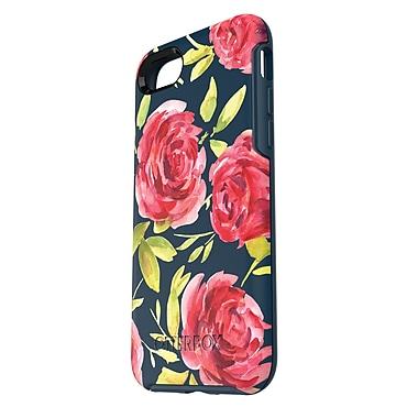 OtterBox – Étui Symmetry pour iPhone 7, floral/bleu foncé (77-53937)