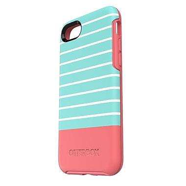 OtterBox – Étui Symmetry pour iPhone 7, bande aqua/rose (77-54022)