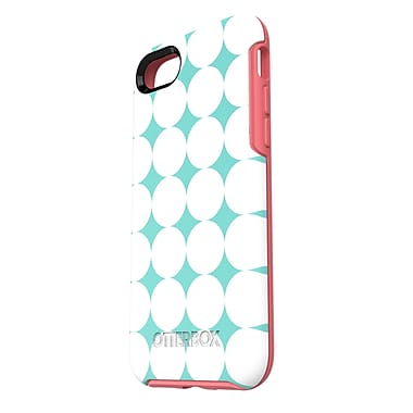 OtterBox – Étui Symmetry pour iPhone 7, motif aqua/rose (77-53936)