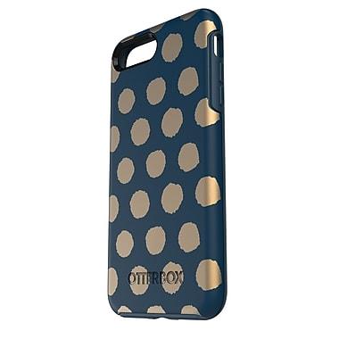 OtterBox – Étui Symmetry pour iPhone 7 Plus, point jaune/bleu marine (77-53941)