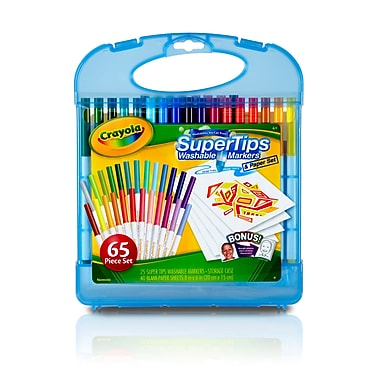 Crayola Supertips Washable Marker Kit, 65 pieces (04-5226)