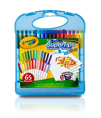 Crayola Supertips Washable Marker Kit, 65 pieces (04-5226)