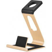 iPM Aluminum Alloy Dual Apple Watch Stand & iPhone Dock -Gold (ALDUALDOCKGLD)