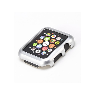 iPM Premium Shiny Hard Plastic Protective Border Case for Apple Watch-Silver-38mm (APLWCASE38SIL)