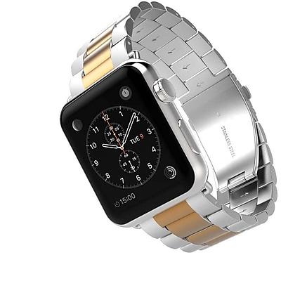 iPM Classic Buckle Watch Band for Apple Watch 38mm-Silver/Rose Gold (APWABKL38SIRG)