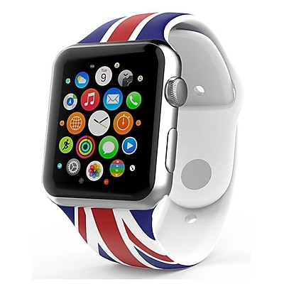 iPM Soft Silicone Flag Band for Apple Watch-38mm-UK Flag (APWFL38UKFL)