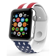 iPM Soft Silicone Flag Band for Apple Watch-42mm-USA Flag (APWFL42USA)