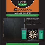 ShotDarts Bulldog Dartboard Cabinet Set