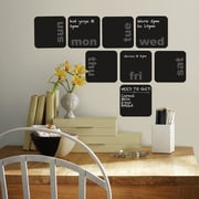 Room Mates Days of the Week Planner Chalkboard Peel and Stick Wall Decal