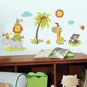 Room Mates Jungle Babies Peel and Stick Wall Decal