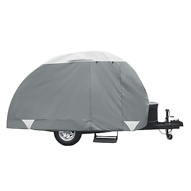 Classic Accessories PolyPro3 Teardrop Trailer RV Cover; 8'