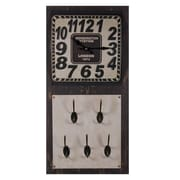 Essential Decor & Beyond Metal Wall Clock