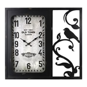 Essential Decor & Beyond MDF Metal Wall Clock