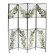 Essential Decor & Beyond 68'' x 58'' Metal Screen w/ Leaves 4 Panel Room Divider