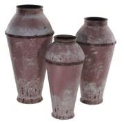 Essential Decor & Beyond 3 Piece Metal Vase Set