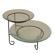 Essential Decor & Beyond 3 Piece Round Glass Plate Tiered Stand Set