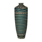 Essential Decor & Beyond Seagrass Wrap Ceramic Vase