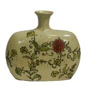 Essential Decor & Beyond Vined Flowers Ceramic Vase