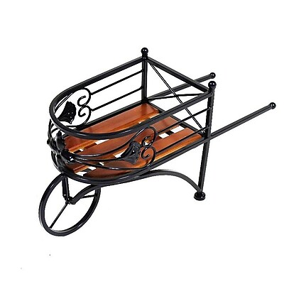 Essential Decor & Beyond Wagon Metal Wheelbarrow Planter WYF078279517053