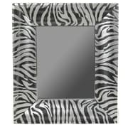 Essential Decor & Beyond Zebra Print Mirror