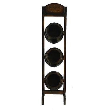 Essential Decor & Beyond 3 Bottle Floor Wine Rack