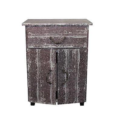 Essential Decor & Beyond Wooden 2 Door 1 Drawer Accent Cabinet