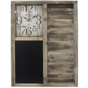 Essential Decor & Beyond Wooden Wall Clock
