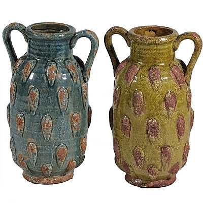 Essential Decor & Beyond Ceramic Table Vase (Set of 2)