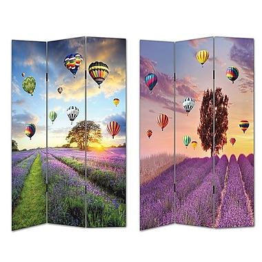 Essential Decor & Beyond 2 Piece 72'' x 48'' Air Balloons 3 Panel Room Divider Set