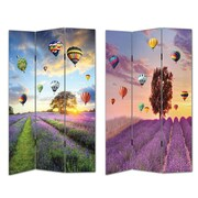 Essential Decor & Beyond 2 Piece 72'' x 48'' Air Balloons 3 Panel Room Divider Set