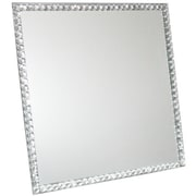 Essential Decor & Beyond Square Glass Mirror w/ Beads