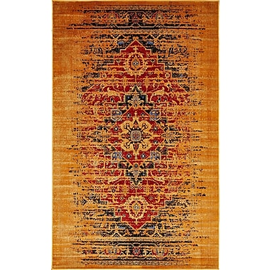 Unique Loom Florence Burgundy/Gold Area Rug; 10' x 13'