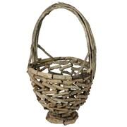 Essential Decor & Beyond Wooden Basket; Brown