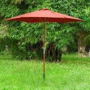 EeeTradingInternational 9' Market Umbrella; Wine Red