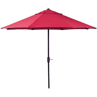 EeeTradingInternational 9' Market Umbrella; Red