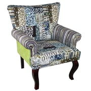 Essential Decor & Beyond Fabric Wooden Arm Chair
