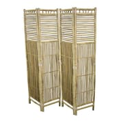Essential Decor & Beyond 70.5'' x 65.5'' Foldable Bamboo 4 Panel Room Divider