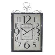 Essential Decor & Beyond Bordeaux Metal Wall Clock