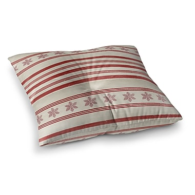 Kavka Holiday Stripes Floor Pillow; 26'' H x 26'' W x 12.5'' D