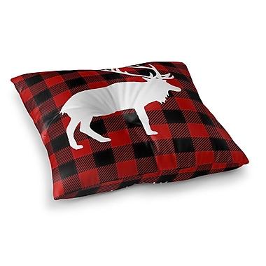 Kavka Deer Plaid Floor Pillow; 23'' H x 23'' W x 9.5'' D