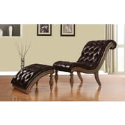 A&J Homes Studio Rio Lounge Chair and Ottoman; Dark Brown