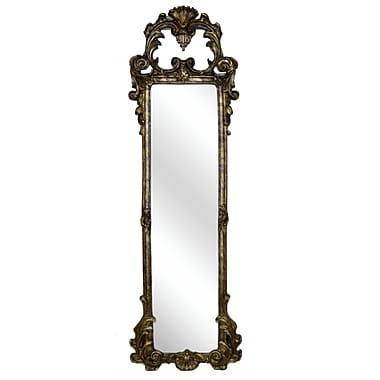 Hickory Manor House Ornate Strip Mirror; Etienne Gold